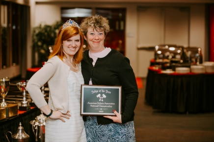 2020 Award Winner, Adrienne Brovero (Right) and Presenter, Danielle Verney O'Gorman (Left)